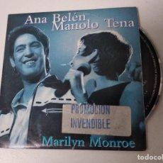 CDs de Música: ANA BELEN Y MANOLO TENA / MARILYN MONROE (CD SINGLE PROMO 1995) CARTON. Lote 269013119