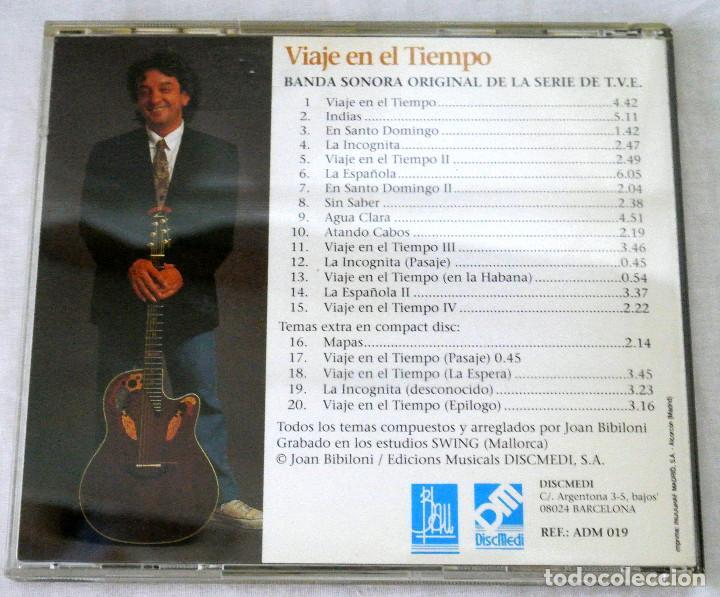 CDs de Música: CD JOAN BIBLIONI VIAJE EN EL TIEMPO, BANDA SONORA ORIG. SERIE DE TVE,DISCMEDI, 1991, CD 019, ADM 019 - Foto 4 - 220762436