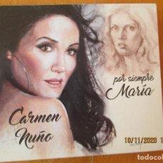 CDs de Música: CARMEN NUÑO, POR SIEMPRE MARÍA - CD - LA FLAMENCA STUDIO - CANTA CANCIONES DE MARÍA JIMENEZ.. Lote 220795948