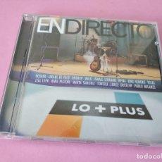 CDs de Música: EN DIRECTO - LO + PLUS 1999 MARTA SANCHEZ MALU JARABE DE PALO ROSANA PABLO MILANES KIKO VENENO... Lote 220848986