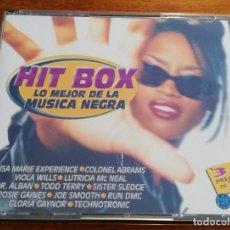 CDs de Música: HIT BOX - LO MEJOR DE LA MUSICA NEGRA - 3CDS 1998 DIVUCSA. Lote 220866611