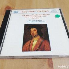 CDs de Música: CANCIONERO MUSICAL DEL PALACIO. MUSIC OF THE SPANISH COURT (1505 - 1520) CD. Lote 221004245