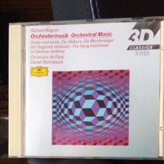 CDs de Música: ORCHESTRAL MUSIC - WAGNER - BARENBOIM. Lote 221096895