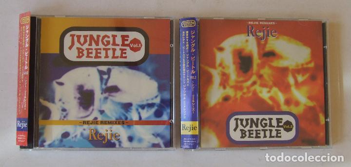 2 CDS JAPON REJIE JUNGLE BEETLE VOL. 1 Y 2 COVERS VERSIONES BEATLES REGGAE DUB RARO CON OBI (Música - CD's Reggae)