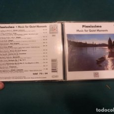 CDs de Música: PIANISSIMO - MUSIC FOR QUIET MOMENTS - CD 13 TEMAS (BEETHOVEN-MOZART-HAYDN-GRIEG-PIAZZOLLA-LISZT...). Lote 221173846