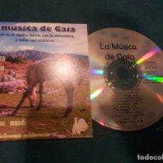CDs de Música: LA MÚSICA DE GAIA - MÚSICA PARA LA RELAJACIÓN - ASOCIACIÓN MANOS MUNDI - CD 12 TEMAS - SARA RECORDS. Lote 221290473