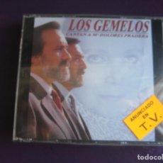 CDs de Música: LOS GEMELOS CANTAN A Mª DOLORES PRADERA - DOBLE CD ESPECTACULAR 1991 PRECINTADO - 24 TEMAS. Lote 221306063