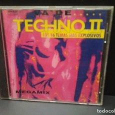 CDs de Música: VA DE TECHNO II CD ALBUM MEGAMIX ARCADE PEPETO. Lote 221310871