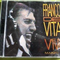 CDs de Música: FRANCO DE VITA - EN VIVO MARZO 16 - 1992 - EDICIÓN MEXICANA - COMPRA MÍNIMA 3 EUROS. Lote 221314913