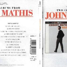 CDs de Música: JOHNNY MATHIS - WARM / SWING SOFTLY. Lote 221345666