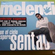 CDs de Música: MELENDI - QUE EL CIELO ESPERE SENTAO - EDICIÓN ESPECIAL CD + DVD - 2005 - COMPRA MÍNIMA 3 EUROS. Lote 221395962