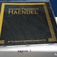 CDs de Música: CD CLÁSICOS IMPRESCINDIBLES ( GEORG FRIEDRICH HAENDEL ) 2000 PLANETA DE AGOSTINI PRECINTADO NUEVO. Lote 221414788