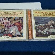 CDs de Música: CD 2 CDS ( MANUEL DE FALLA ) 2000 HELIX NOVOSON PERFECTO ESTADO. Lote 221415498