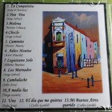 CDs de Música: CAMINITO - TANGOS - LA CUMPARSITA - YIRA YIRA - MALENA... - 13 TEMAS - EDICIÓN ARGENTINA. Lote 221431632