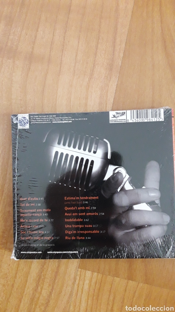CDs de Música: CRIS JUANICO. TOT DE MI. AÚN RETRACTILADO - Foto 2 - 221463471