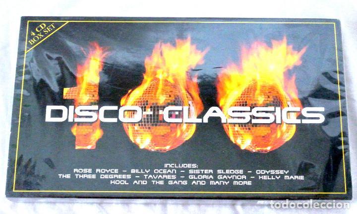 CD 100 DISCO CLASSICS 4 CD BOX SET, TIME MUSIC INTERNATIONAL LIMITED, NUEVO PRECINTADO,5033606800823 (Música - CD's Disco y Dance)