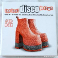 CDs de Música: CD THE BEST DISCO IN TOWN, 5 CD BOX, DISKY, 2000, 072438906325 ,DB 990632. Lote 221485087