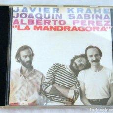 CDs de Música: CD JAVIER KRAHE, JOAQUIN SABINA, ALBERTO PEREZ , LA MANDRAGORA ,CBS, 1981, 42-085426-10. Lote 221495938