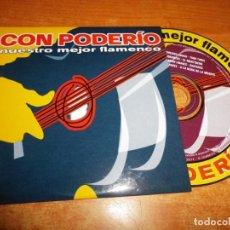 CDs de Música: CON PODERIO NUESTRO MEJOR FLAMENCO CD MAXI SINGLE PROMO CARTON 2003 ENRIQUE MORENTE DORANTES. Lote 221499260