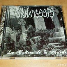 CDs de Música: TANATOSSIS CD HYPER RARE 1ST SPANISH THRASH 2005-FUCK OFF-LEGION-ADN-CANKER-MURO-NOPRESION. Lote 221511033