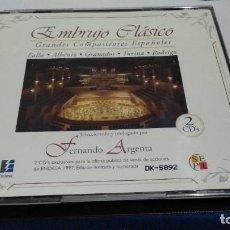 CDs de Música: CD DOBLE 2CD´S - EMBRUJO CLASICO - GRANDES COMPOSITORES ESPAÑOLES - FERNANDO ARGENTA ED. LIMITADA Nº. Lote 221518262