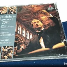 CDs de Música: CD DOBLE WIENER PHILHARMONIKER, NIKOLAUS HARNONCOURT ?– NEUJAHRSKONZERT 2001 • NEW YEAR'S CONCERT. Lote 221518547