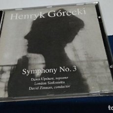 CDs de Música: CD - HENRYK GÓRECKI – SYMPHONY NO. 3 - 1992 ELEKTRA NONESUCH. Lote 221518917