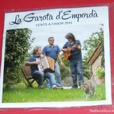 CDs de Música: LA GAROTA D'EMPORDÀ. VENTS A FAVOR 2014. XAVIER FALGARONA, JOSEP GARCIA, OSCAR TANÚS.. Lote 221559225