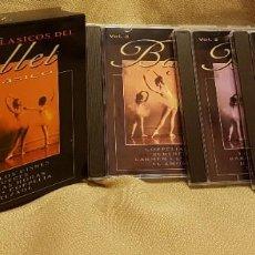 CDs de Música: BALLET CLASICO - EL LAGO DE LOS CISNES - CASCANUECES - DANZA DE LAS HORAS ETC. BOX 3 CD´S. Lote 221594752