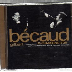 CDs de Música: GILBERT BÉCAUD (20 CHANSONS D'OR) - EMI MUSIC, 1998 -. Lote 221594895