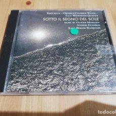 CDs de Música: SOTTO IL SEGNO DEL SOLE. KROUMATA, OMNIBUS CHAMBER WINDS, FALU WOODWIND QUINTET (CD). Lote 221597488