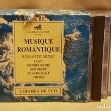 CDs de Música: MUSIQUE ROMANTIQUE - LISZT - MENDELSSOHN - SCHUBERT - TCHAIKOVSKY- CHOPIN - BOX 5 CD´S. Lote 221598146