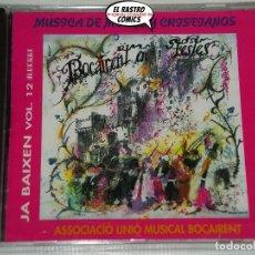 CDs de Música: BOCAIRENT EN FESTES, MÚSICA DE MOROS Y CRISTIANOS, JA BAIXEN VOL. 12, CD 1993, ALBERRI. Lote 221604262