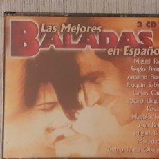 CDs de Música: CD LAS MEJORES BALADAS, TRIPLE CD ,COMO NUEVO. Lote 221608098