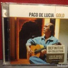 CDs de Música: DOBLE CD PACO DE LUCIA : GOLD ( ENTRE DOS AGUAS, ALMORAIMA, ZYYAB, PUNTA UMBRIA, COPA ANDALUZA, ETC. Lote 221609456