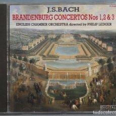CDs de Música: CD. BACH. BRANDENBURG CONCERTOS 1,2,3. Lote 221611020
