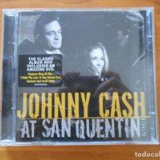 CDs de Música: CD JOHNNY CASH AT SAN QUENTIN - CD + DVD DOCUMENTAL (O3). Lote 221639790