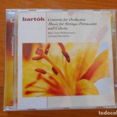 CDs de Música: CD BARTOK - CONCERTO FOR ORCHESTRA / MUSIC FOR STRINGS, PERCUSSION AND CELESTA (O3). Lote 221658950