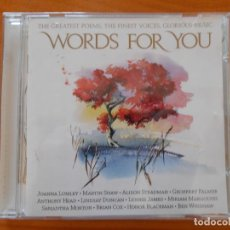 CDs de Música: CD WORDS FOR YOU - THE CLASSICAL COLLECTIVE (O3). Lote 221659512