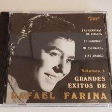 CDs de Música: RAFAEL FARINA / GRANDES ÉXITOS / CD - STAR MUSIC-1995 / 10 TEMAS / MUY BUENA CALIDAD.. Lote 221661337