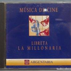 CDs de Música: CD. MUSICA DE CINE. LA LIBRETA MILLONARIA. ARGENTARIA. Lote 221671276