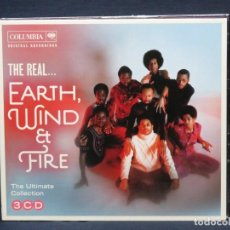 CDs de Música: EARTH, WIND & FIRE - THE REAL EARTH, WIND & FIRE - THE ULTIMATE COLLECTION - 3 CD. Lote 221710253