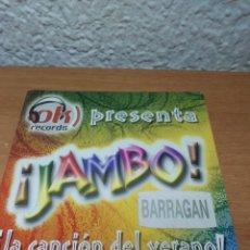 CDs de Música: CD SINGLE PROMO JAMBO BARRAGAN LA CANCION DEL VERANO. REME. Lote 221712983
