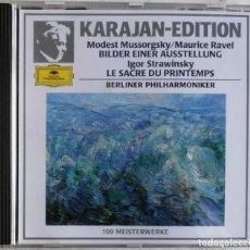 CDs de Música: MODEST MUSSORGSKY MAURICE RAVEL, IGOR STRAWINSKY, HERBERT VON KARAJAN, BERLINER PHILHARMONIKER. Lote 221742585