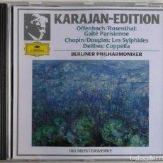 CDs de Música: OFFENBACH ROSENTHAL CHOPIN DOUGLAS DELIBES KARAJAN, BERLIN PHILHARMONIC ORCHESTRA-GAÎTÉ PARI. Lote 221742722