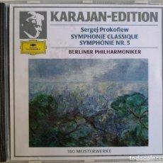 CDs de Música: SERGEJ PROKOFIEW KARAJAN, BERLINER PHILHARMONIKER-SYMPHONIE CLASSIQUE SYMPHONIE NR. 5. Lote 221742773