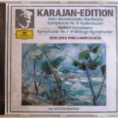 CDs de Música: FELIX MENDELSSOHN BARTHOLDY, ROBERT SCHUMANN, KARAJAN, BERLINER PHILHARMONIKER-SYMPHONIE NR.4 ITA. Lote 221742840