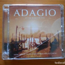 CDs de Música: CD ADAGIO - LET THE WORLD BE STILL (2 CD'S) (U3). Lote 221748000