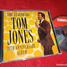CDs de Música: TOM JONES THE LEGENDARY 30TH ANNIVERSARY ALBUM CD DERAM GERMANY 26 CANCIONES. Lote 221753387