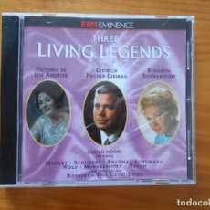 CDs de Música: CD THREE LIVING LEGENDS - DE LOS ANGELES, SCHWARZKOPF, FISCHER-DIESKAU (Y3). Lote 221770600